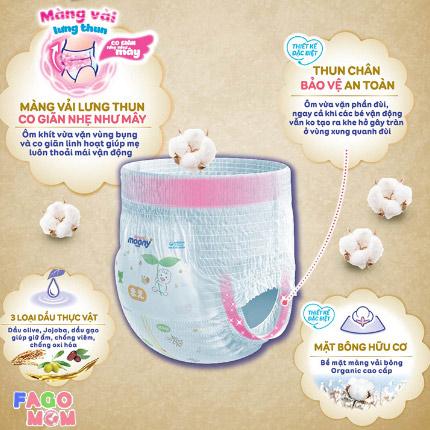 Tã quần Moony cộng miếng size XXL 26 + 4 miếng cho bé gái (13-28Kg)