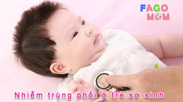 [Giải đáp từ bác sĩ] nhiễm trùng phổi ở trẻ sơ sinh