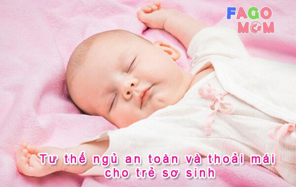 6+ tư thế ngủ an toàn và thoải mái cho trẻ sơ sinh