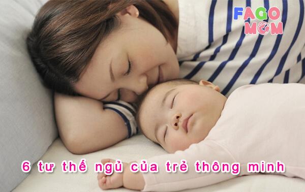 [Giải mã] 6 tư thế ngủ của trẻ thông minh